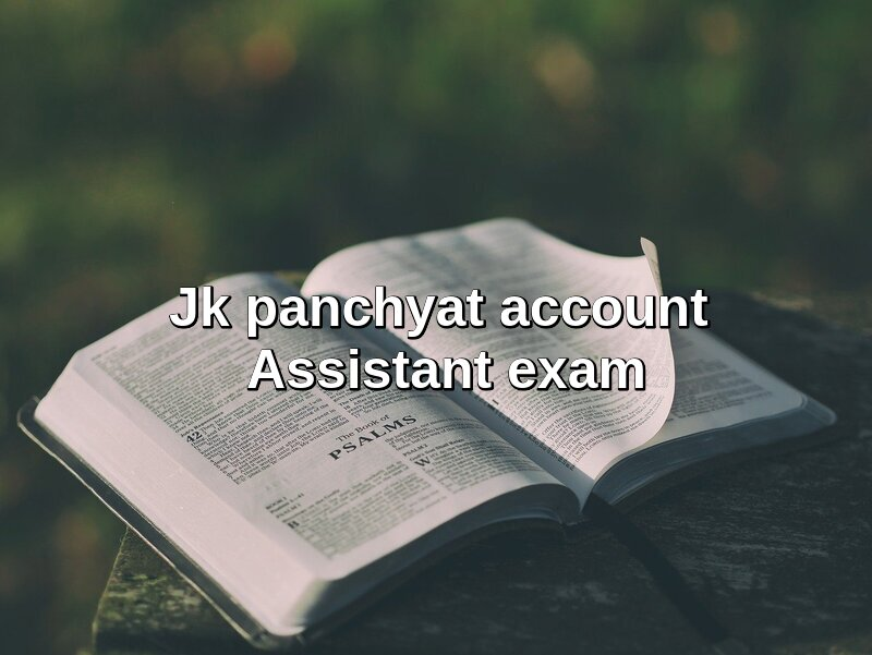 Jk panchyat account assistant